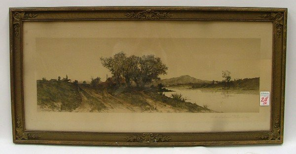 218: TWO COLLECTIBLE GRAPHICS: ERNEST C. ROST etching (