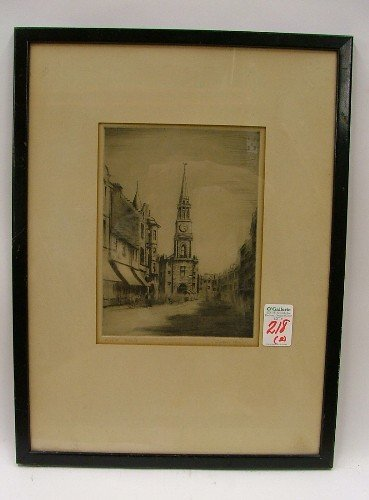 218: TWO COLLECTIBLE GRAPHICS: ERNEST C. ROST etching ( - 2