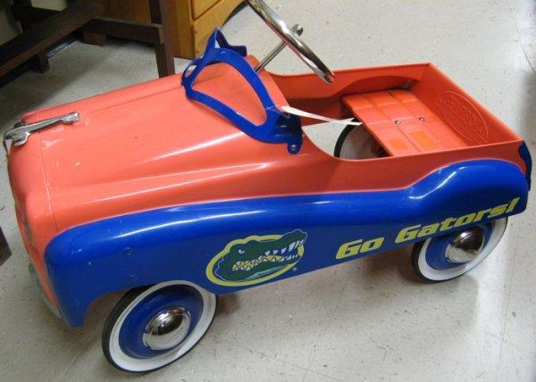 308: FLORIDA GATORS METAL PEDAL CAR, Gearbox Pedal  Car