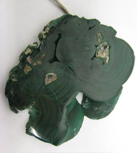 323: AN AFRICAN GEM BOTRYOIDAL MALACHITE, with one  sid