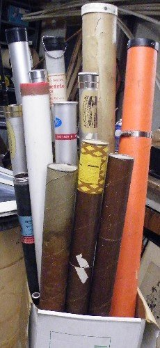 324: LOT OF FISHING RODS AND ROD CASES, Eight fly  rods