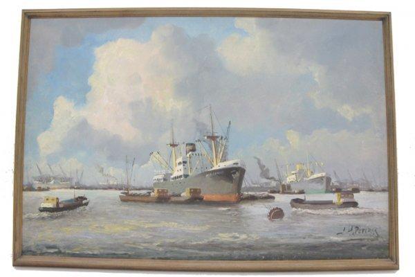 610: J.H. PETERS OIL ON CANVAS  (Dutch, born 1915)