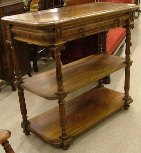 623: LOUIS XVI STYLE THREE-TIER SERVING STAND,  English