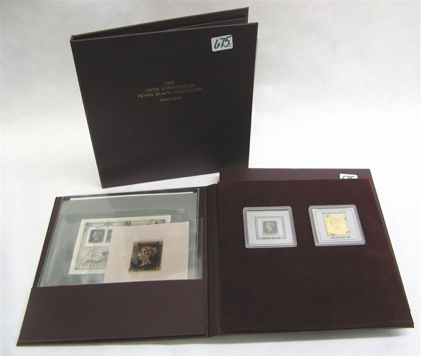 675: COLLECTIBLE PENNY BLACK STAMP AND BOOK SET