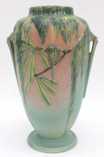 683: AMERICAN ROSEVILLE ART POTTERY VASE, c.  1932-1937