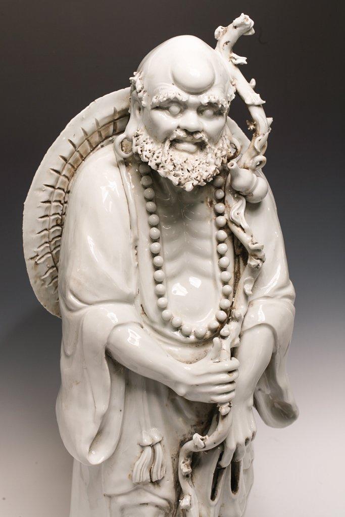 Large Blanc de Chine Dehua Luohan Sculpture - 2