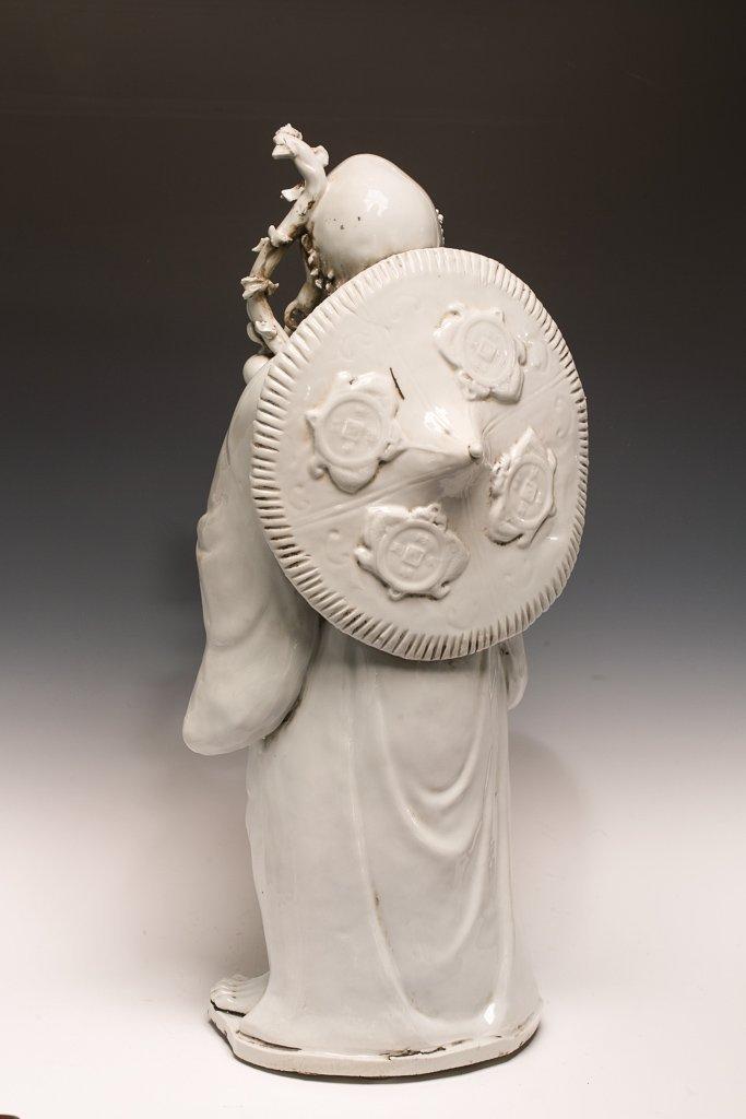 Large Blanc de Chine Dehua Luohan Sculpture - 6