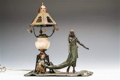 Franz Bergman Austrian Bronze Lamp