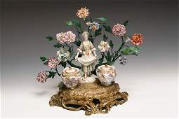 18th Century Porcelain Louis XV Inkwell