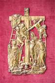 Russian Gilt Silver Icon of 13th Station of the Cross