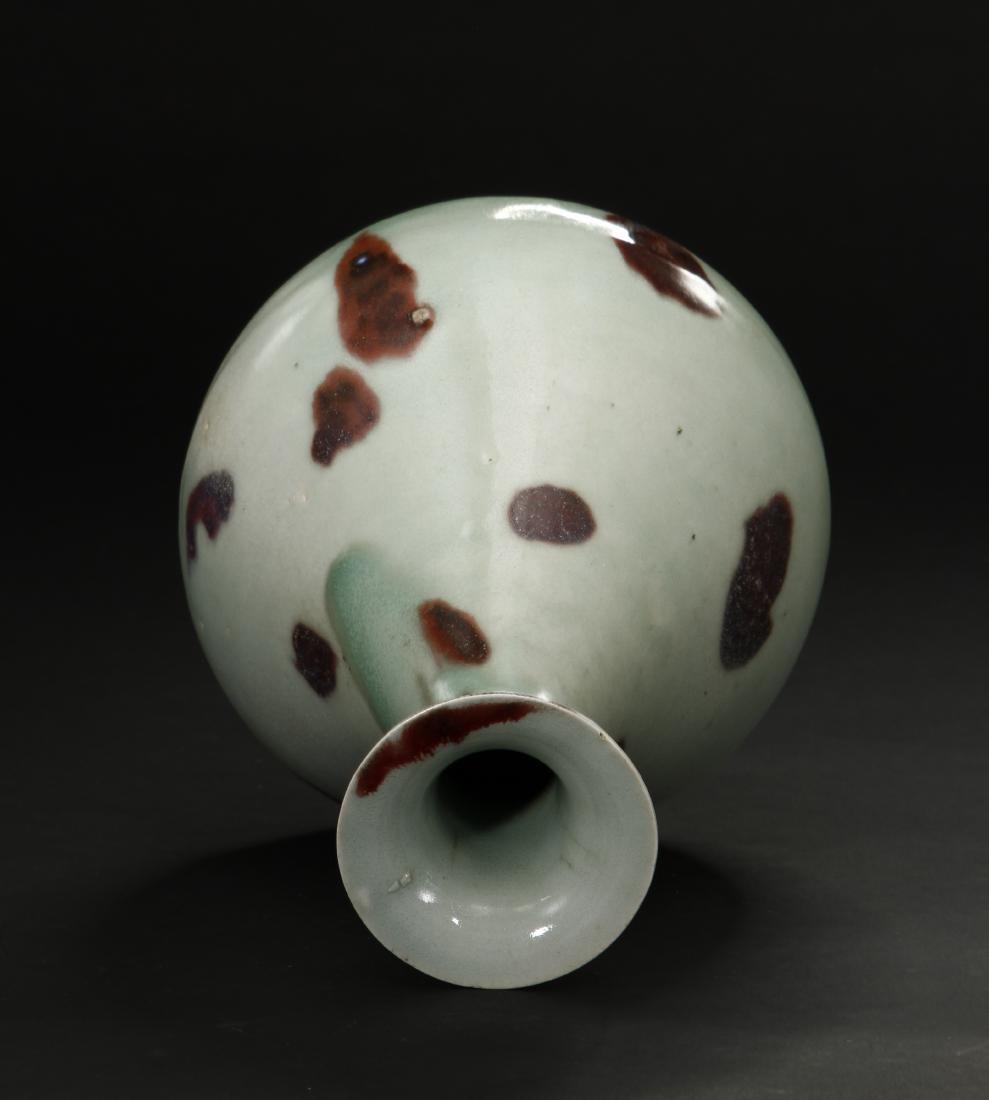 Russet-Splashed Celadon Glazed Yuhuchunping Vase - 4
