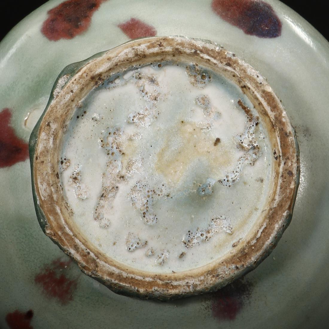 Russet-Splashed Celadon Glazed Yuhuchunping Vase - 5