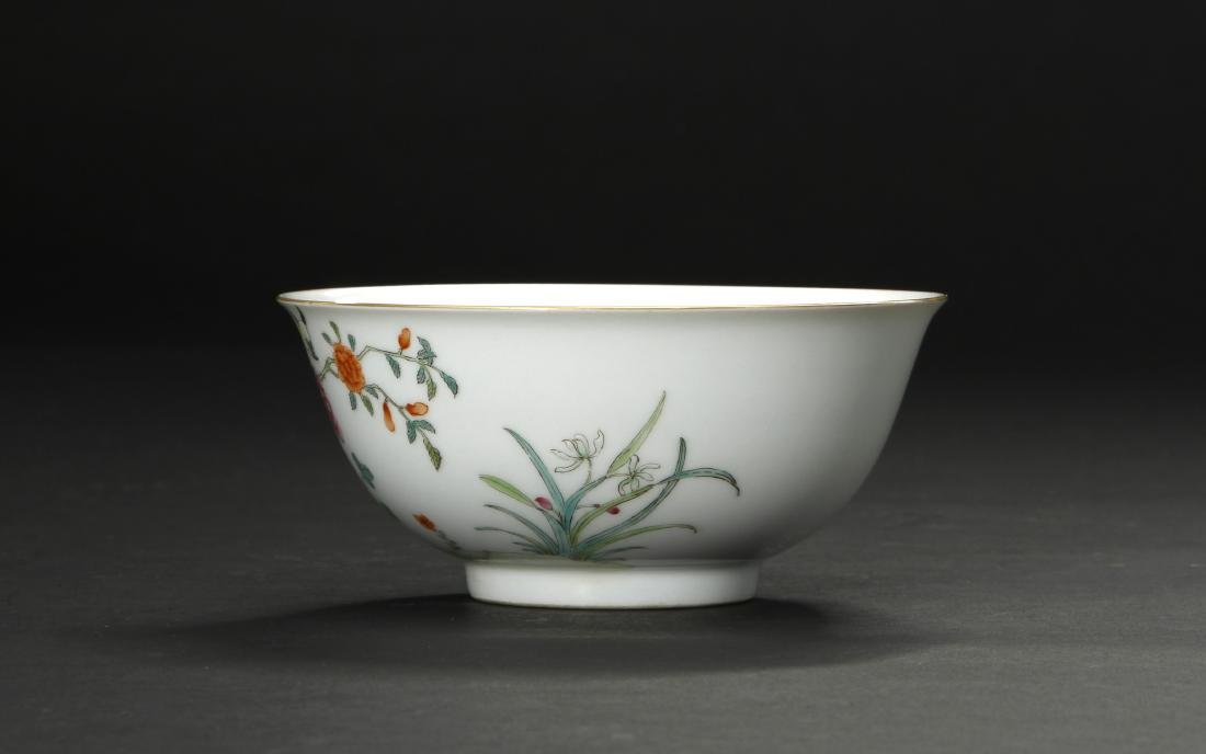 Famille Rose 'Peony' Bowl - 3