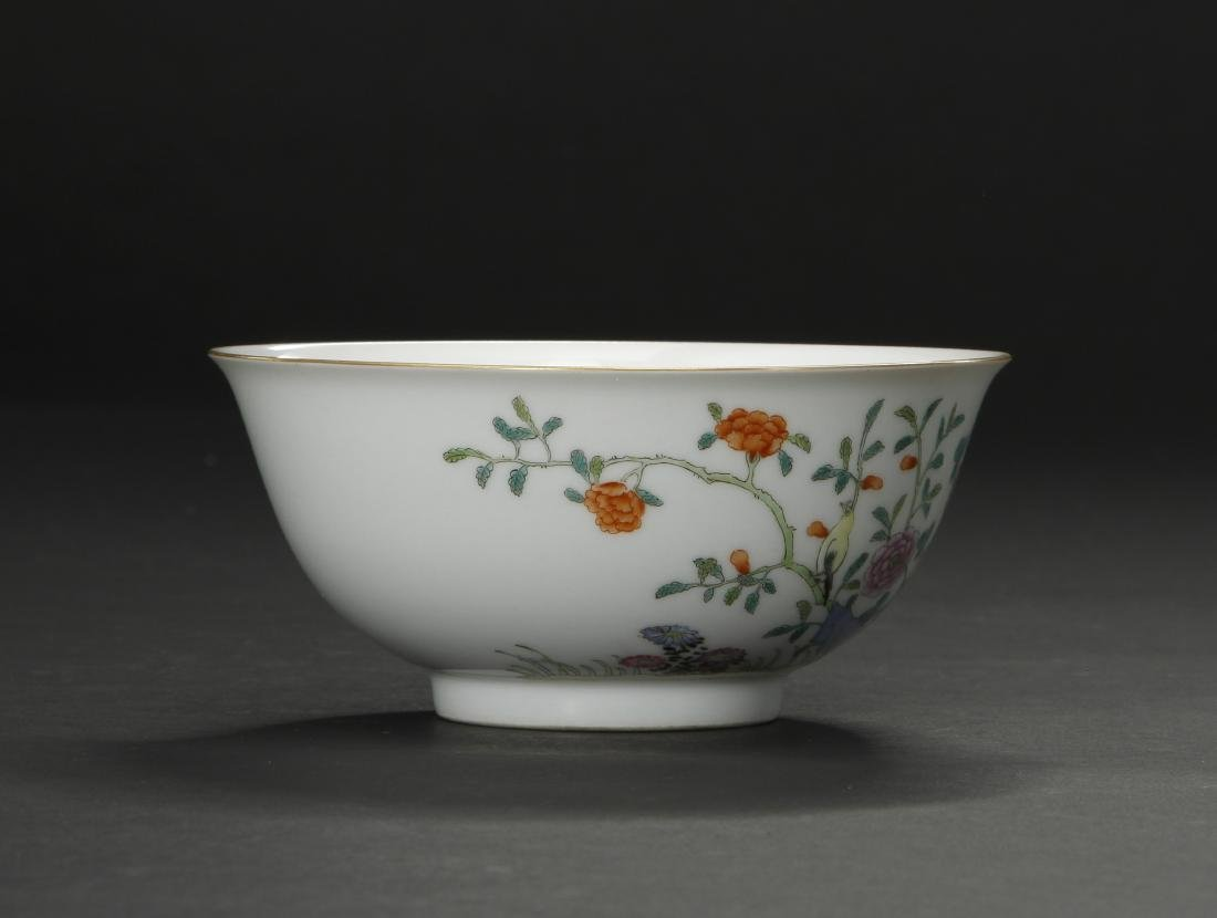 Famille Rose 'Peony' Bowl - 4