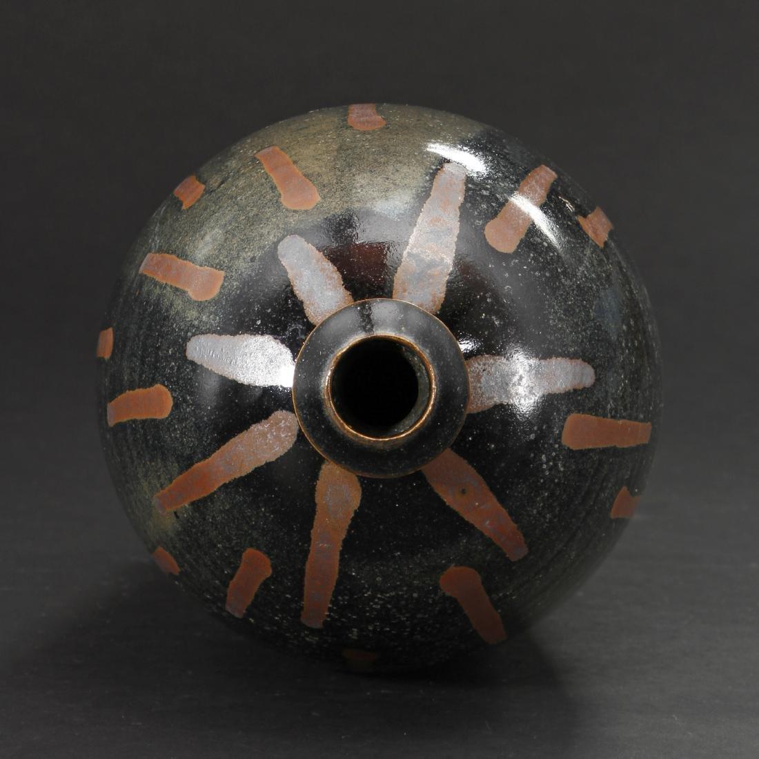 Rare Cizhou Russet Splashed Black Meiping Vase - 6