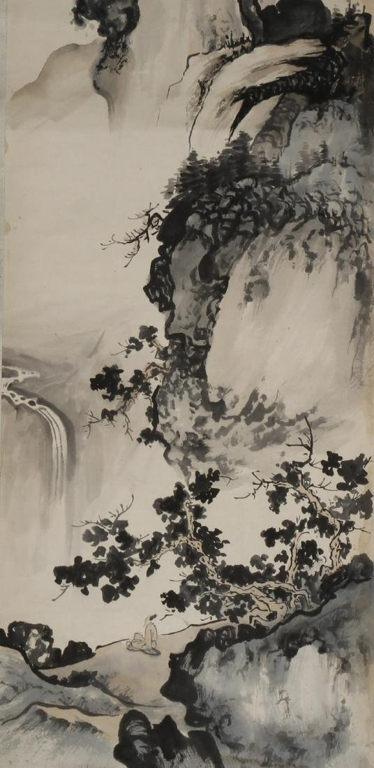 Chinese Landscape Hanging Scroll - 3