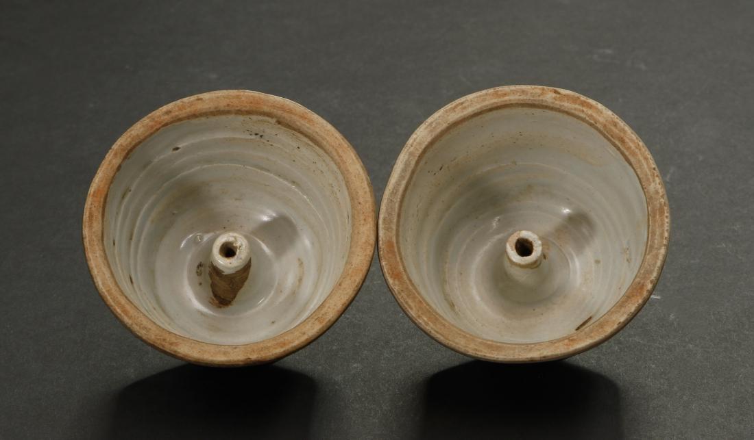 Pair Blue Enameled White Reserved Dragon Vases - 9