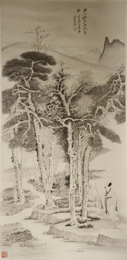 Chinese Scroll Painting of Landscape, Zhang Daqian
