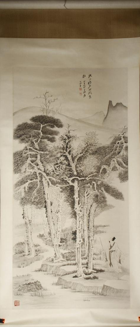 Chinese Scroll Painting of Landscape, Zhang Daqian - 5