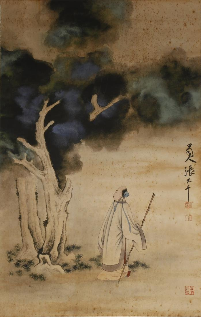 Chinese Scholar Hanging Scroll