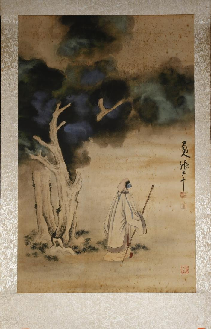 Chinese Scholar Hanging Scroll - 2