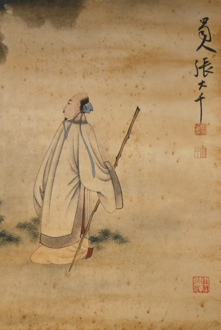 Chinese Scholar Hanging Scroll - 4