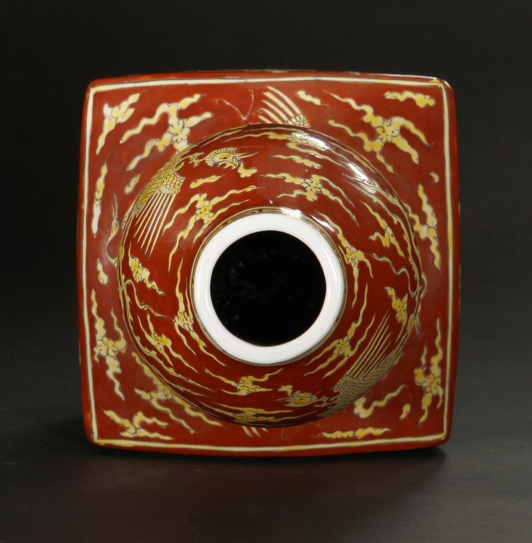Polychrome Enameled Double-Gourd Vase, Wanli - 7