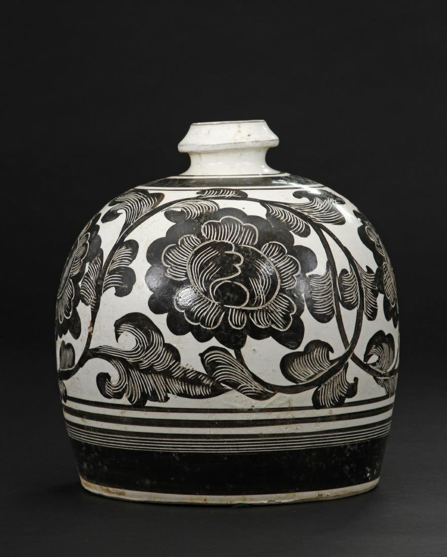 Large Cizhou Incised and Painted Truncated Meiping