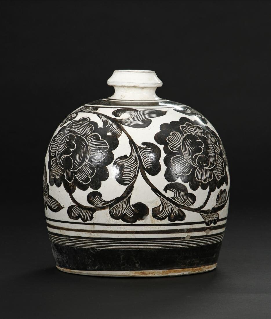 Large Cizhou Incised and Painted Truncated Meiping - 3