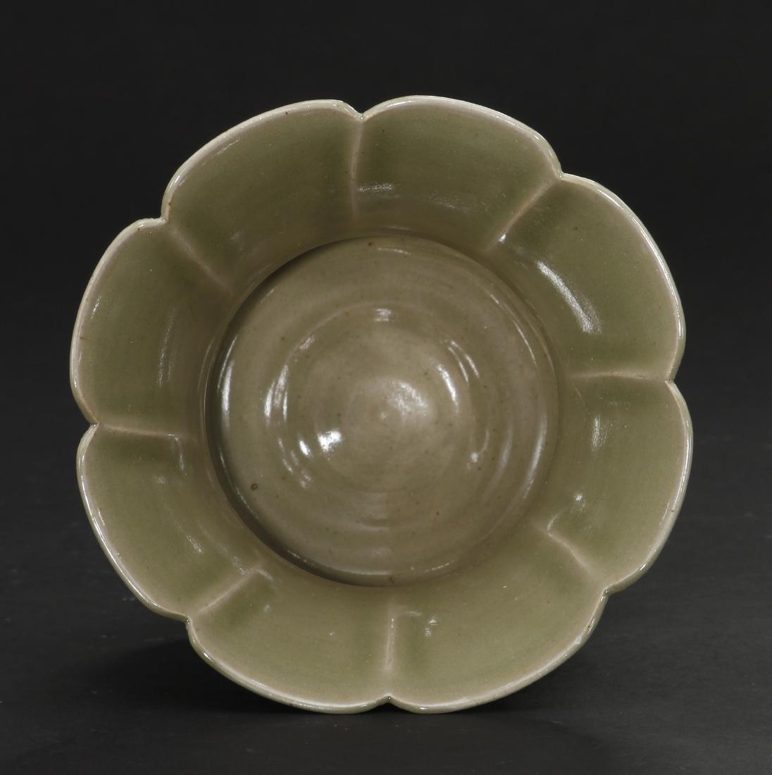 Rare Carved Yaozhou Celadon Floral-Form Zhadou - 5