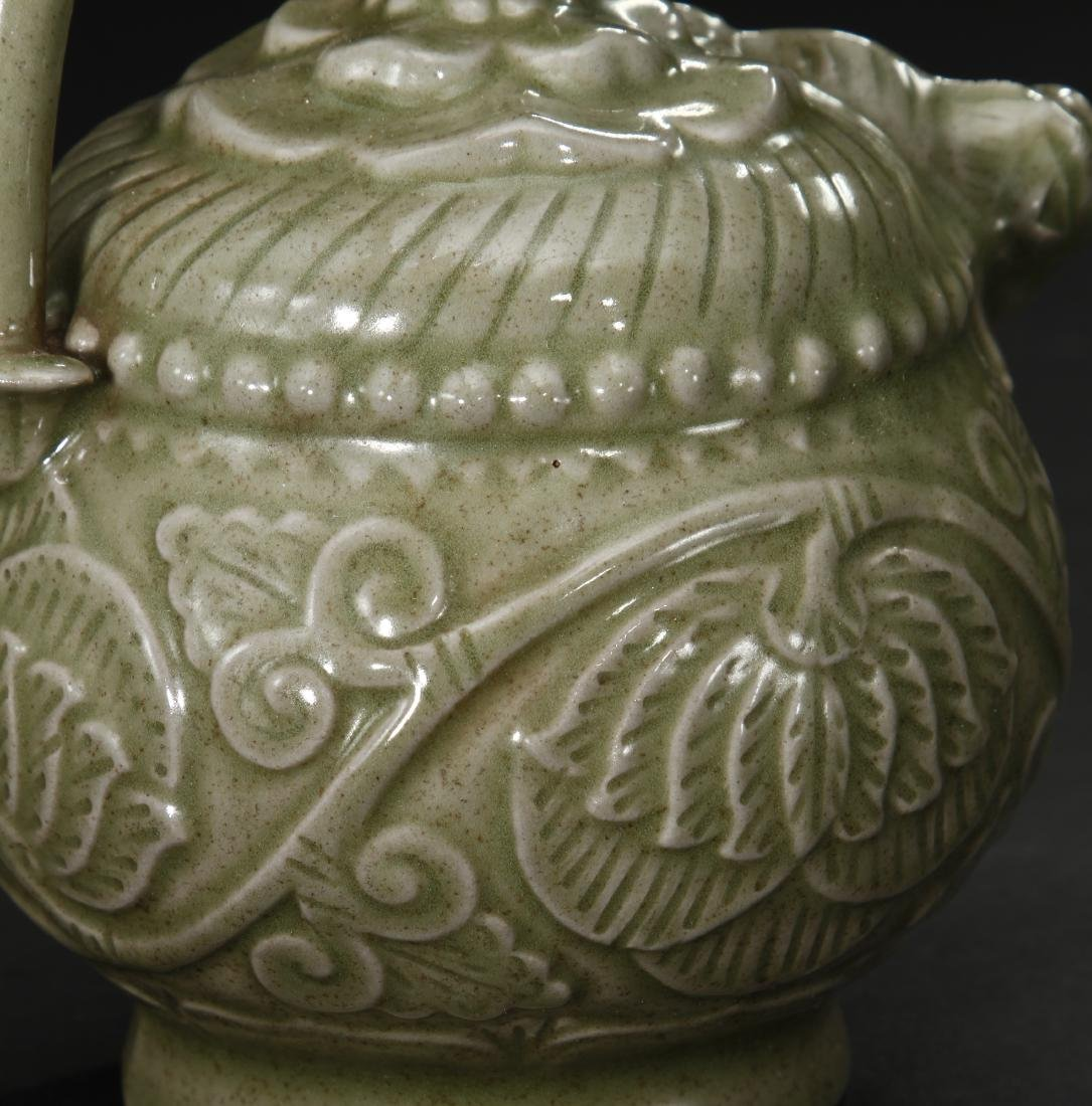 Carved Yaozhou Celadon Ewer - 7