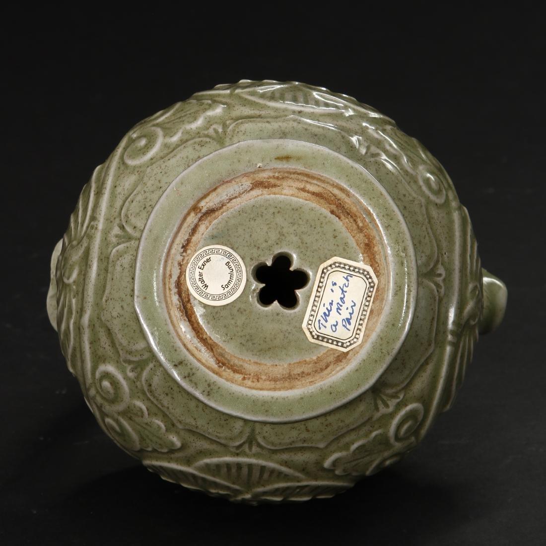 Carved Yaozhou Celadon Ewer - 9