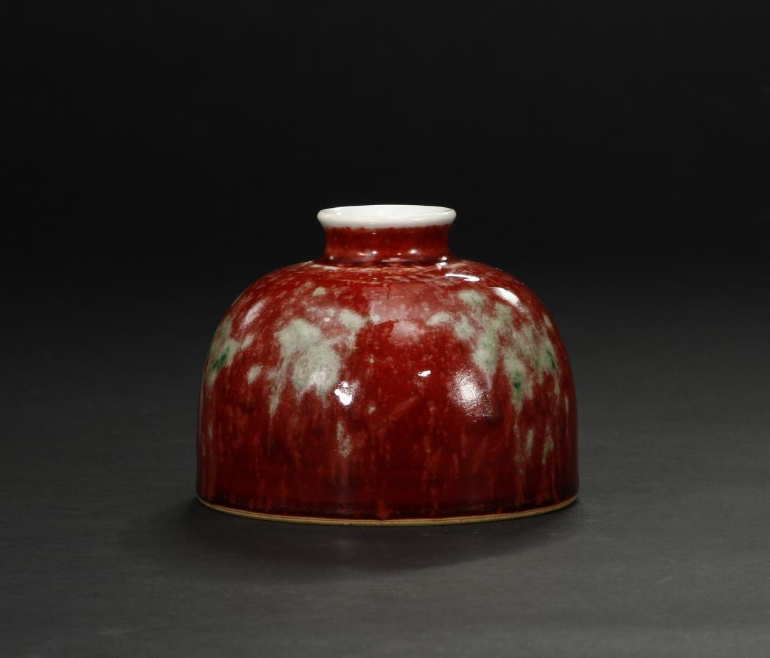 Peachbloom-Glazed Beehive Waterpot - 2