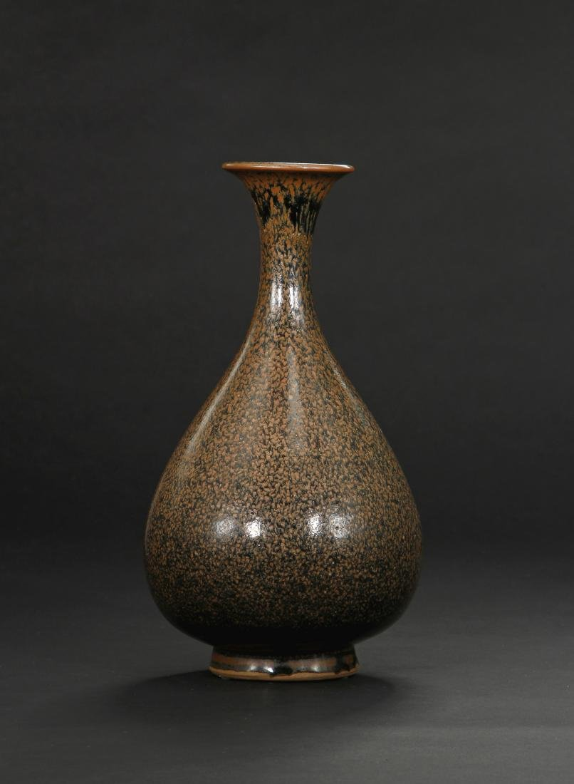 Cizhou Black Glazed Russet Spotted Yuhuchuan Vase
