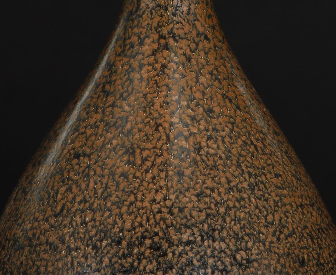 Cizhou Black Glazed Russet Spotted Yuhuchuan Vase - 4