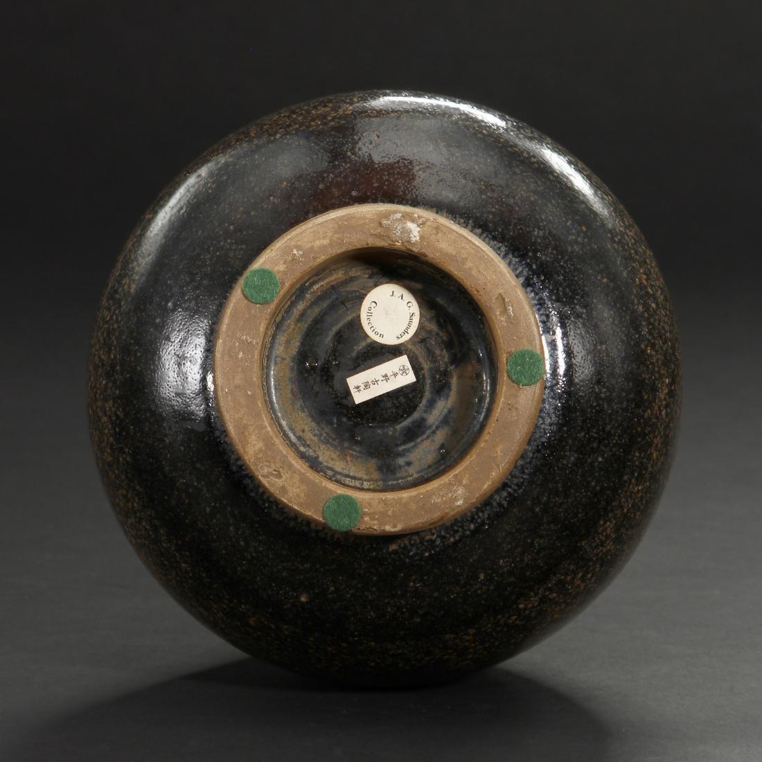 Cizhou Black Glazed Russet Spotted Yuhuchuan Vase - 7
