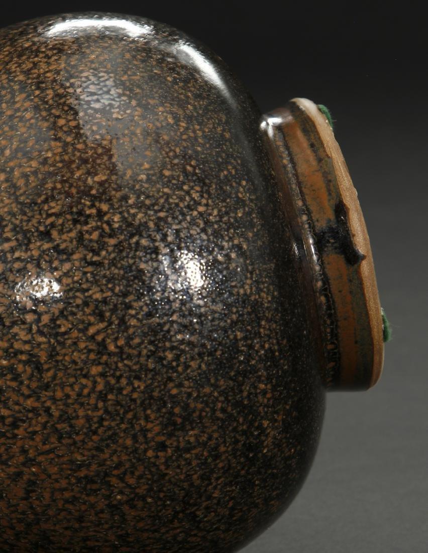 Cizhou Black Glazed Russet Spotted Yuhuchuan Vase - 9