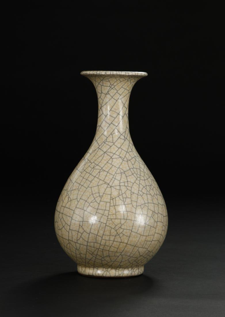 Crackled Glazed Yuhuchuan Vase - 2