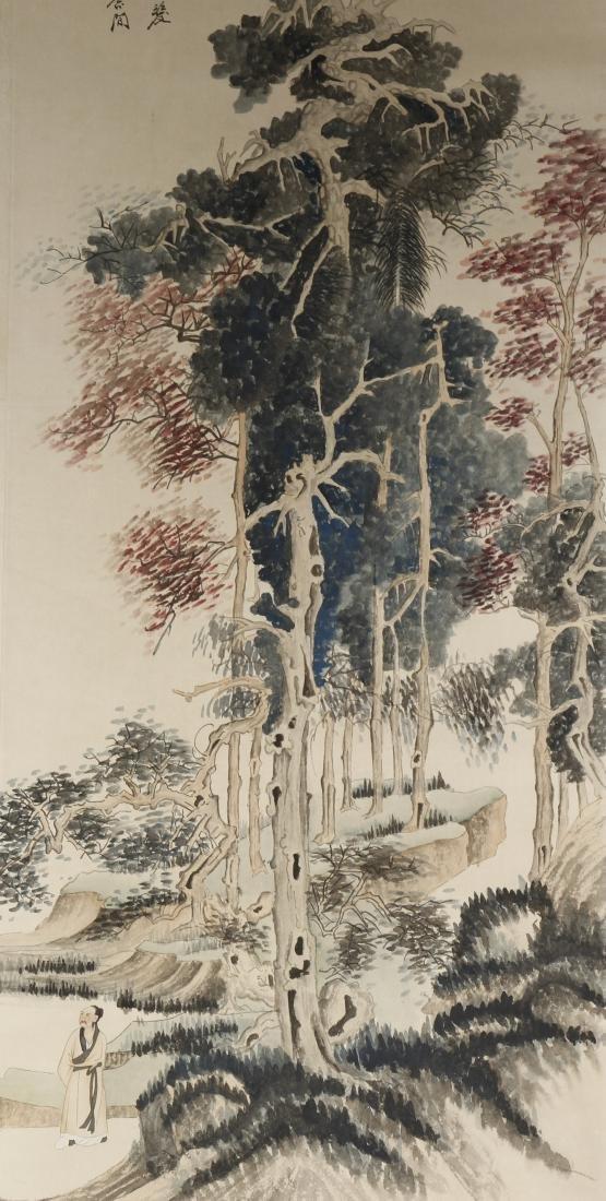 Chinese Scroll Painting of Landscape, Zhang Daqian - 3