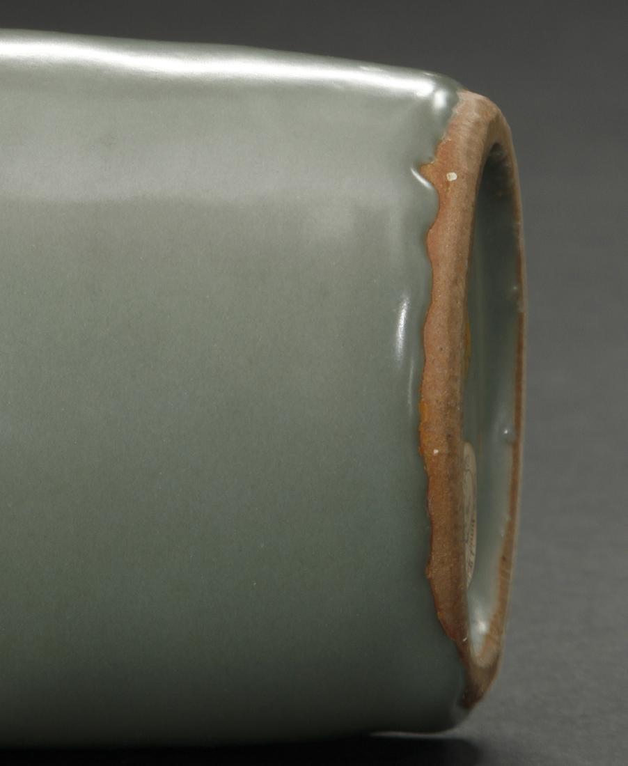 Fine Lungchuan Celadon 'Kinuta' Mallet Vase - 10