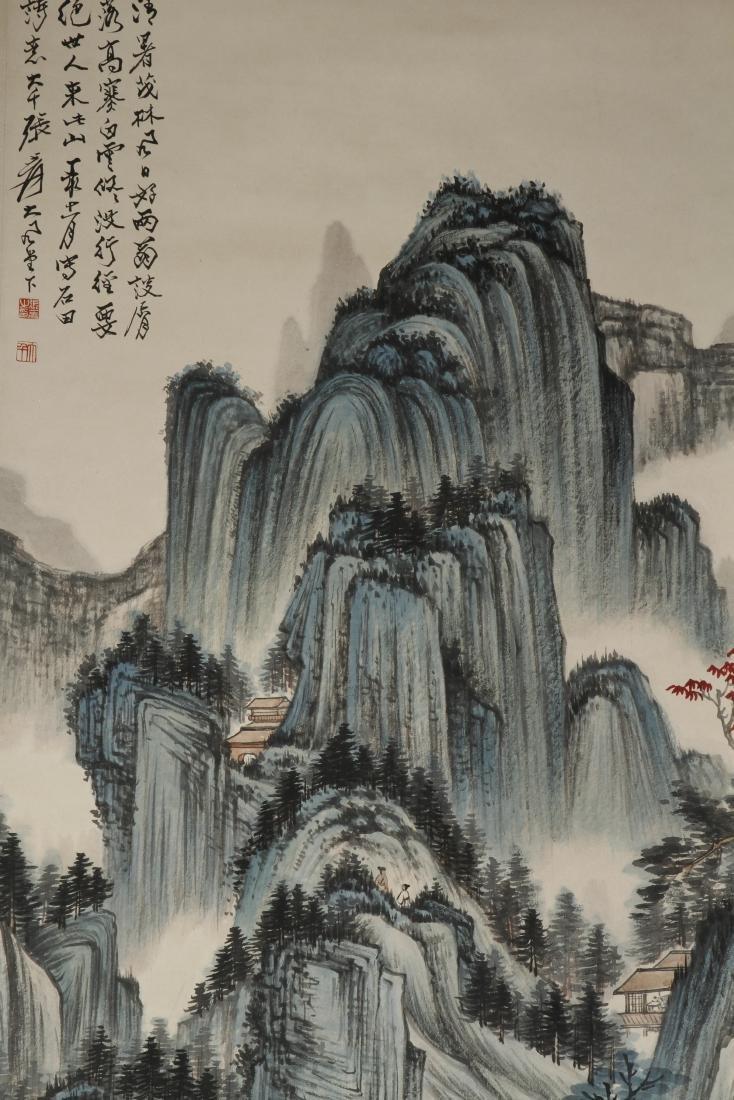 Chinese Scroll Painting of Landscape, Zhang Daqian - 4
