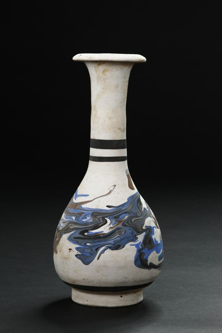 Rare Cizhou Painted Buff Ware Vase - 2