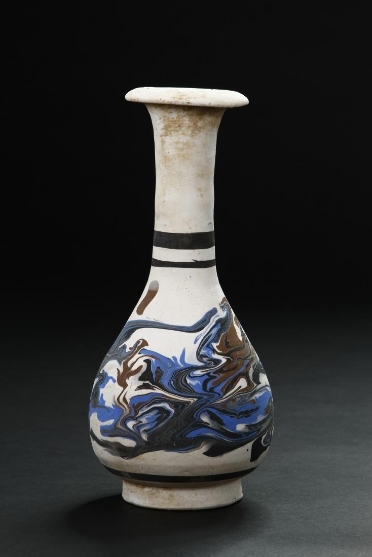 Rare Cizhou Painted Buff Ware Vase - 3