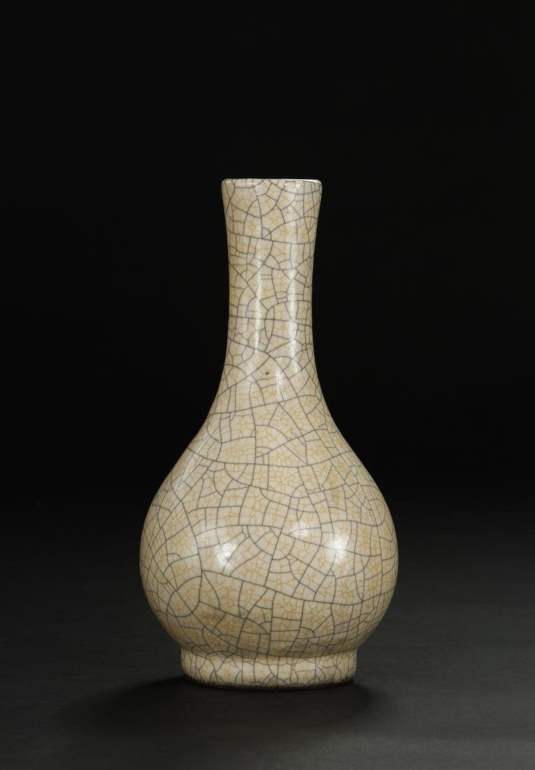 Crackle Glazed Ko Ware Pear-Shaped Vase - 2