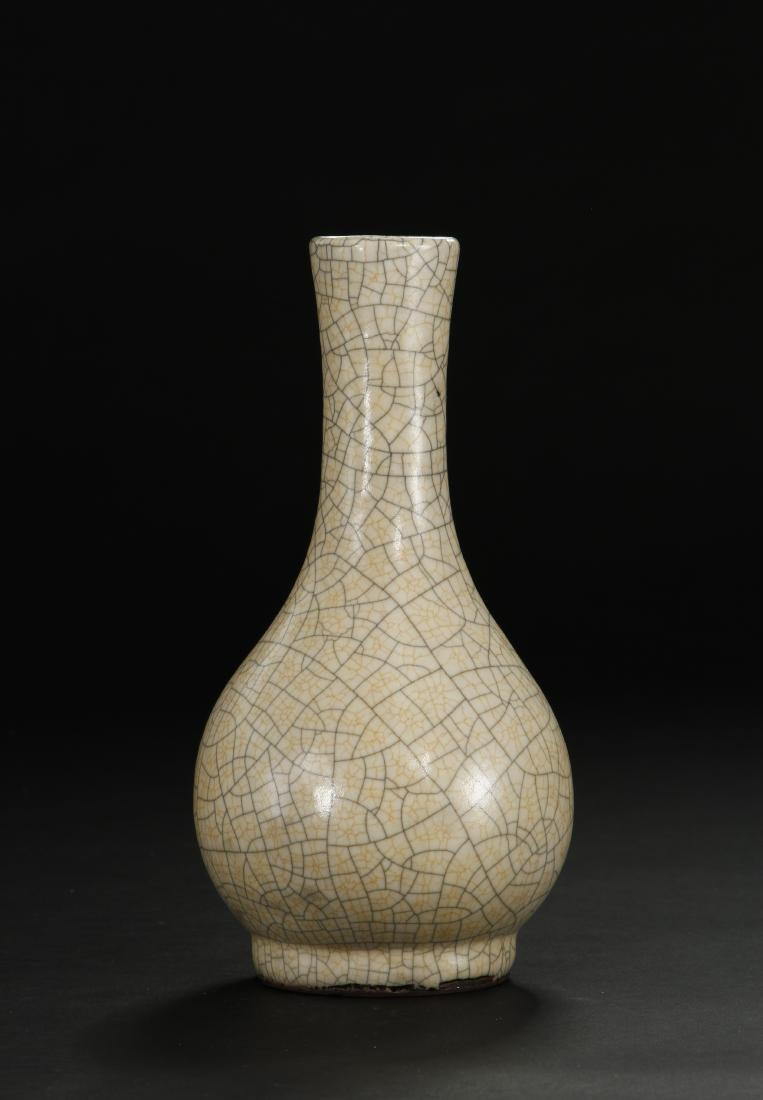 Crackle Glazed Ko Ware Pear-Shaped Vase - 3