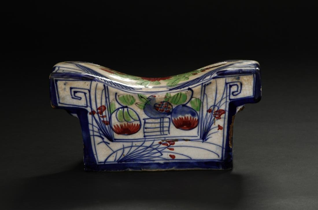 Early Qing Porcelain Pillow