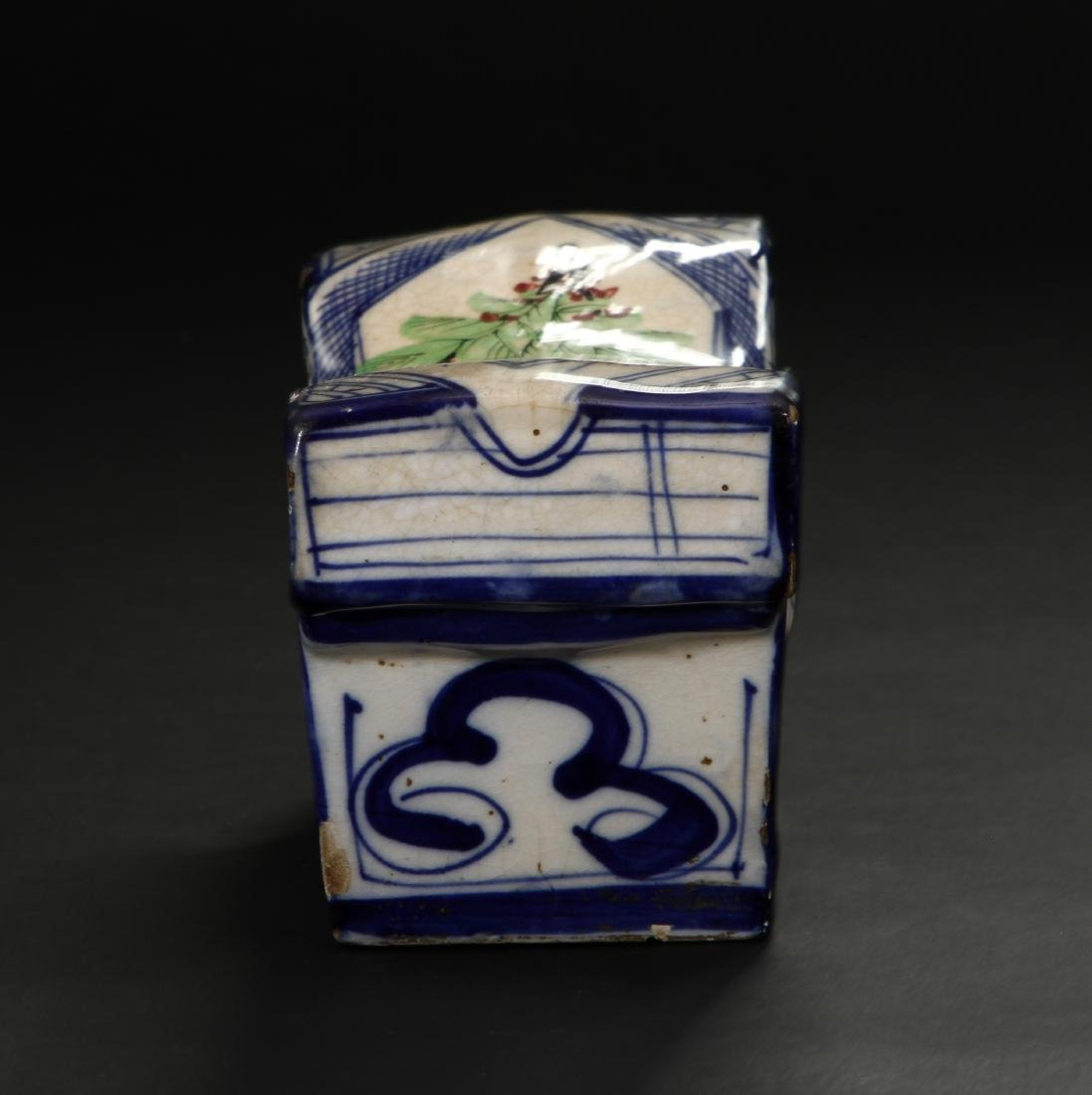Early Qing Porcelain Pillow - 3