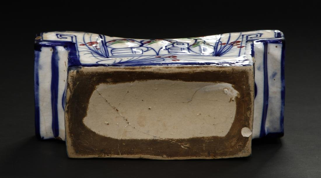 Early Qing Porcelain Pillow - 6