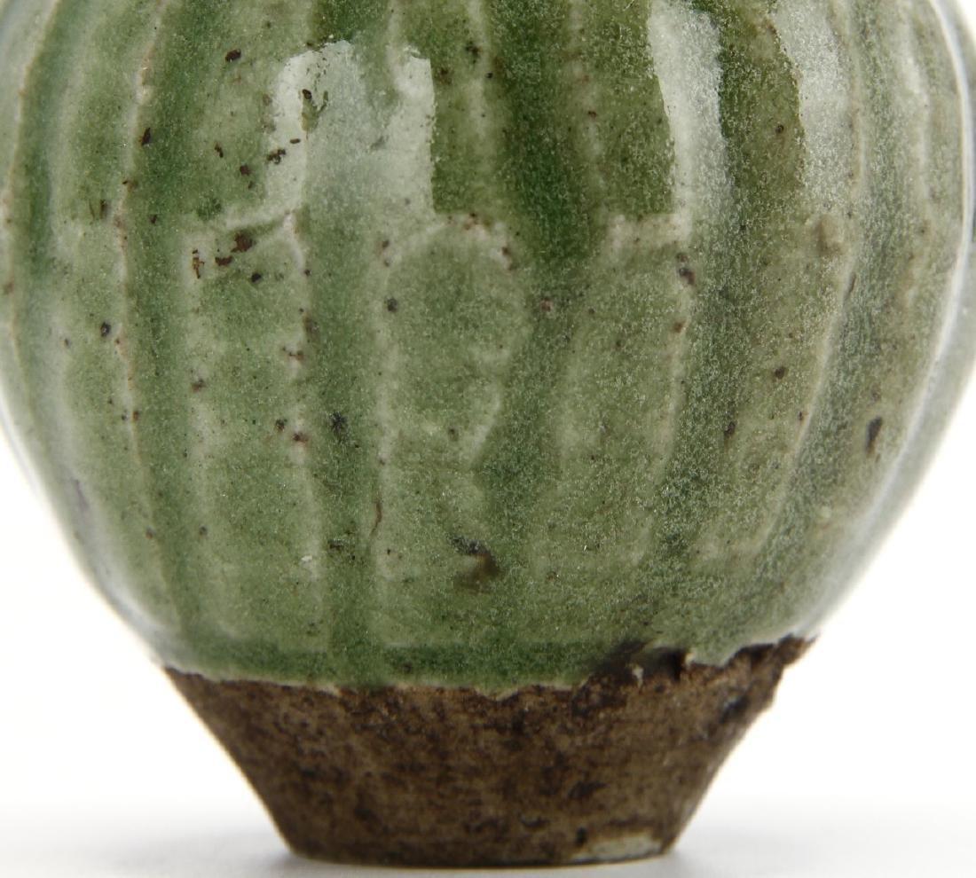 Small Green Glazed Jar - 7