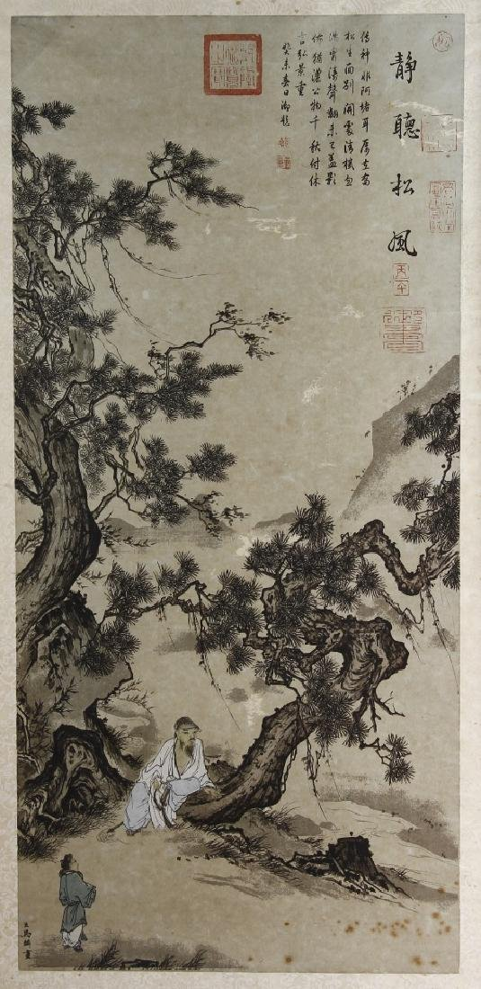 Framed Painting of a Scholar, attributed to Ma Lin - 2